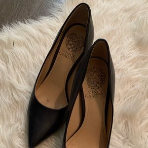 Vince Camuto Shoes 5.5 Navy blue leather heels